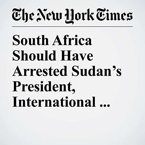 South Africa Should Have Arrested Sudan's President, International Court Rules copertina