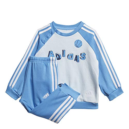 adidas Baby Graphic French Terry Jogging Anzug, Skytin/Lucblu/White, 62