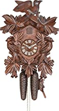 German Cuckoo Clock 8-day-movement Carved-Style 13.00 inch - Authentic black forest cuckoo clock by Hekas