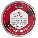 Old Spice Hair Styling Pomade for Men, Medium Hold/No Shine, Barber's Blend Infused with Aloe, 3 Ounce