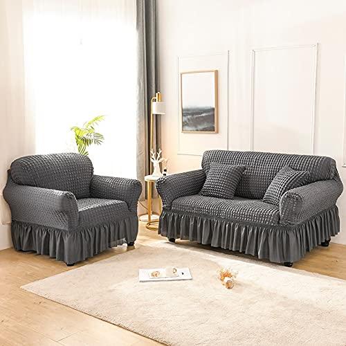 Asiento Funda de sofá elástica de Color sólido para Sala de Estar Fundas seccionales elásticas Impresas Funda de sofá en Forma de L A11 4 plazas