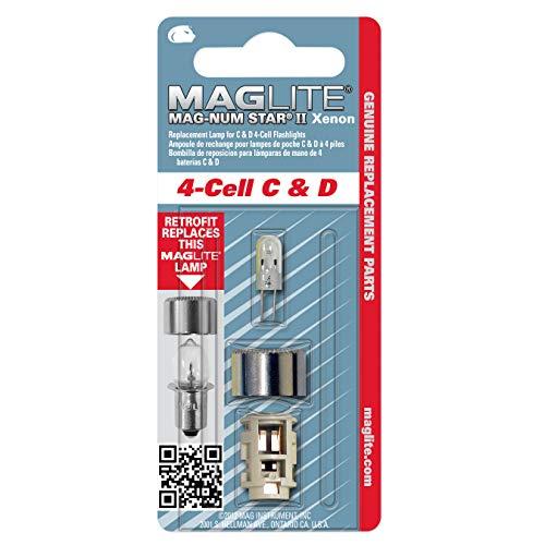 Mag-Lite LMXA401 Xenon Ersatzleuchtmittel für 4 C-/ D-Cell Stablampen