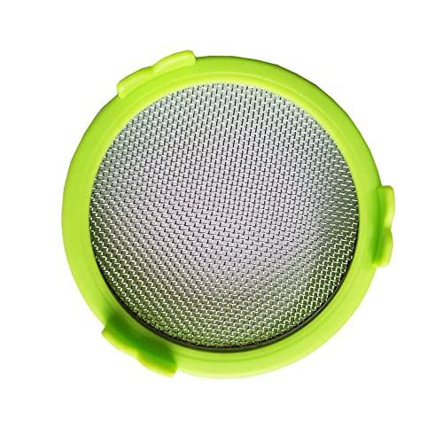 QiKun-Home Tarro Simple Tapa de brotación Dividida de Acero Inoxidable 86MM Taza de plástico de Boca Ancha Botella Grande Tapa de brotación Verde