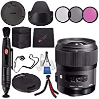 Sigma 35mm f / 1.4DG HSM Artレンズfor Nikon DSLR Cameras # 340306+ 67mm 3Pieceフィルタキット+レンズペンクリーナー+マイクロファイバークリーニングクロス+柔軟な三脚バンドル(インターナショナルモデル保証なし