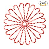 Hanging Candy Cane Natale 30pcs Candy Stampelle Albero di Natale Decor Hanging Pendenti