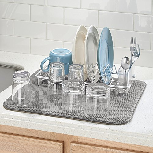 InterDesign水切りマットドライングマットキッチンiDryLサイズピューター/アイボリー41241EJ