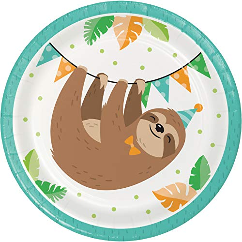 Find Discount Sloth Party Dessert Plates, 96 ct