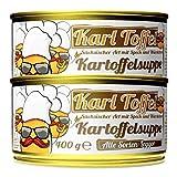 Schlump-Chili⎥Wölfchens Gourmet Karl Toffel Kartoffelsuppe Eintopf in der Dose (2 x 400 g)