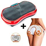 TANGO Pack Figura Plataforma Vibratoria de Fitness + Electroestimulador Muscular Gluteos - Ideal para Adelgazar, tonificar y Reducir Celulitis