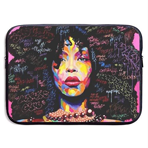 Zome Lag Beschermhoes voor computer, tas voor tablet, Afrikaans meisje, zwart, rok dames kunst laptoptas voor laptop S(13 Inch) 1265