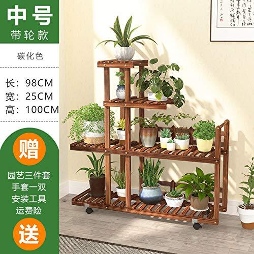 Blumen-Rack-Anlage Multi Holz-Regale Bonsai-Anzeigen-Regal Indoor Outdoor Indoor-Garten Terrasse, Balkon, Blumenständer Stand: Model7