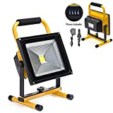 50W LED Work Light Rechargeable Portable Flood...