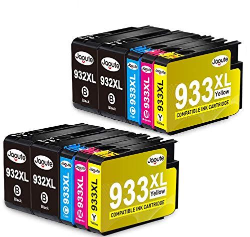 Jagute 932 933 XL Cartucce d'inchiostro Compatible con HP 932XL 933XL per HP Officejet 6700 6600 6100 7510 7612 7110 7610 (4 Nero, 2 Ciano, 2 Magenta, 2 Giallo)