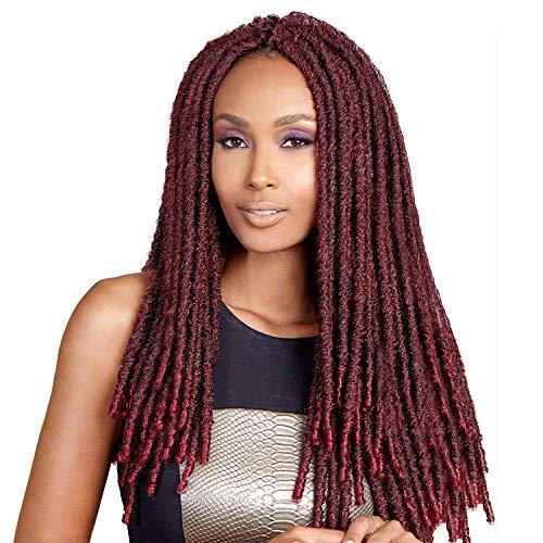 Bobbi Boss Synthetic Hair Crochet Braids Faux Locs Style Senegal Bomba Dreadlocks (4-Pack, 1B)