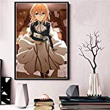 ganlanshu Carteles Populares de Arte de Anime, Cuadros de decoración del hogar, Carteles e Impresiones de lienzos,Pintura sin Marco,30X45cm