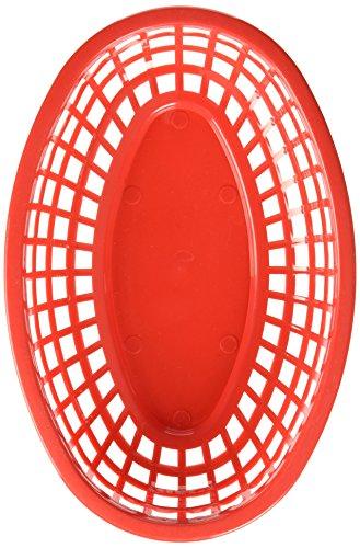 TableCraft (1074r) – Ovale Plastique paniers, Rouge (Lot DE 12)