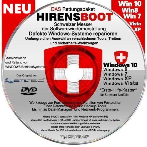 Notfall-CD für Windows Betriebssysteme Umfangreicher