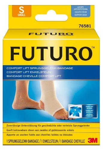 FUTURO FUT76581 Comfort Sprunggelenk-Bandage, beidseitig tragbar, Größe S, 25,4 – 31,8 cm