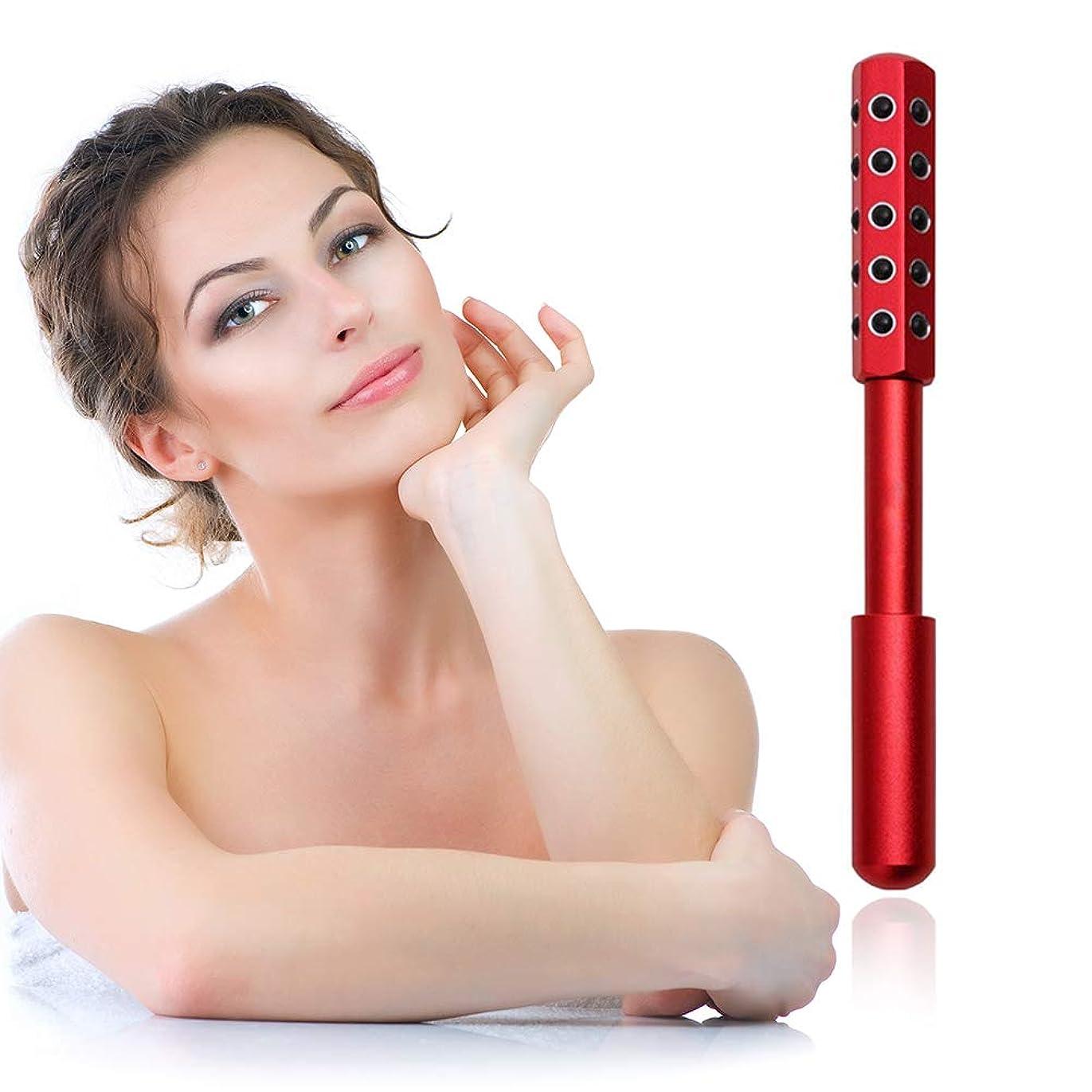 師匠ゴール職業顔と体のためのゲルマニウムマッサージ美容ローラーは、血液の循環を促進し、皮膚の引き締め、毒素、皮膚の抗しわをクリア