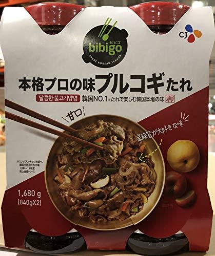 CJコープ プルコギ韓国風焼肉のタレ 840g×2本セット×2【計4本セット】