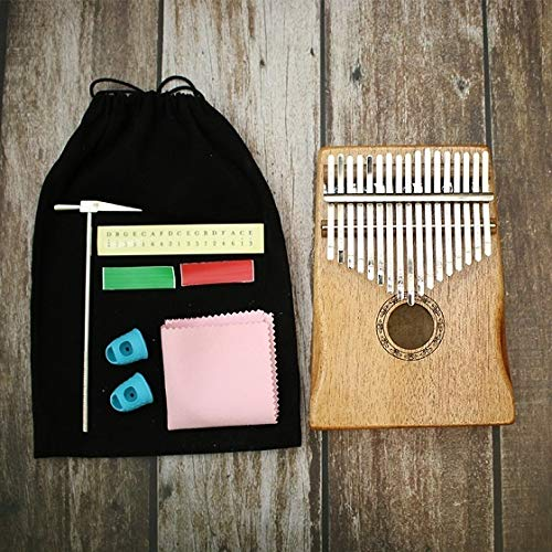 HENGTONGTONGXUN 17 Key Kalimba Afrikanische massiver Mahagoni Daumen Finger Piano Sanza 17 Tasten Massivholz Kalimba Mbira Thumb Einfach zu verwenden (Farbe : Type 1)