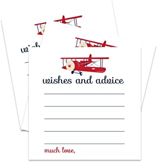 Airplane Advice and Wishes for Baby Shower - Party Pack of 25