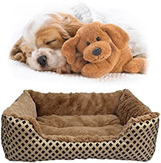 SymbolLife Pet Bed, Soft Washable Dog Cat Pet Warm Basket Bed Cushion with Fleece Lining