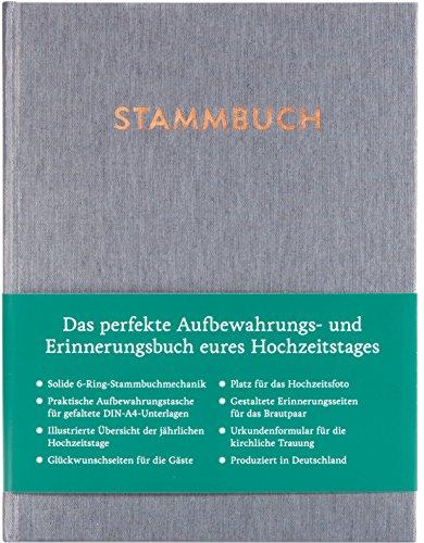 GLÜCK & SEGEN ALLES MIT LIEBE Modernes Stammbuch der Familie A5, Familienstammbuch (glänzend, Silbergrau)