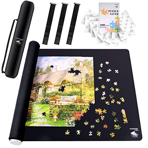 NVOSTORY Puzzle Mat Roll Up with Stitched Edge for 500,1000,1500 Pieces - 47