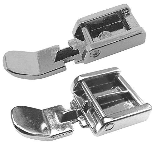 2 x Reißverschlussfuß Nähfuß (Set) Schmal und Normal für Silvercrest Nähmaschinen
