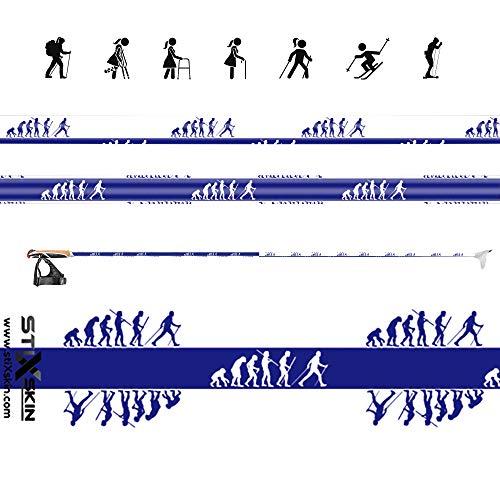 stiXskin, 2 décoratifs en Vinyle Wraps pour Marche Nordique, randonnée, Trekking, Ski et personnalisées, Aid bâton de Marche   Leki, Exel, Gabel, Fizan, Swix  