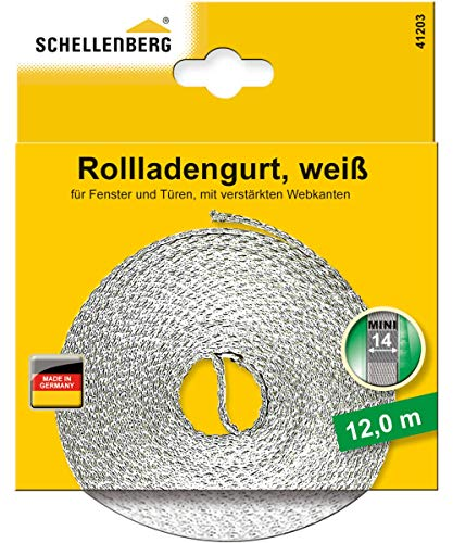 Schellenberg 41203 Rollladengurt 14 mm x 12 m - System MINI, Rolladengurt, Gurtband, Rolladenband