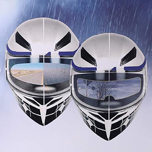 Xzbnwuviei Universal-Regenschutzfolie, für Motorradhelm, transparent, regenfest, Anti-Regen-Patch-Bildschirm für K3, K4, AX8, LS2, HJC, MT Helme