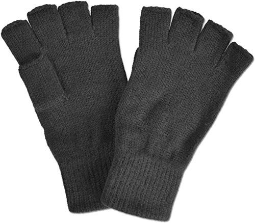 normani Strick Handschuhe ohne Finger in Schwarz Größe M