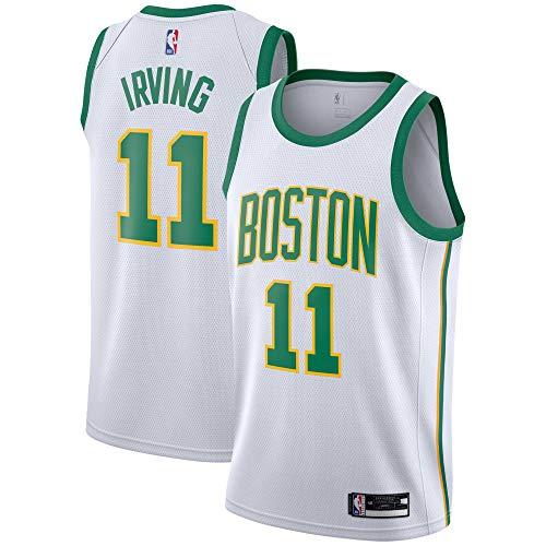 Outerstuff Kyrie Irving Boston Celtics #11 White Gold Youth Alternate Swingman Jersey (Small 8)