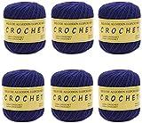 Hilo de Algodón para Tejer Crochet Ganchillo o Punto Torrijo PERLE XXL No 8 70g, Ovillo de algodón perle Suave para Tejer | 6 Unidades, Color 43327-6