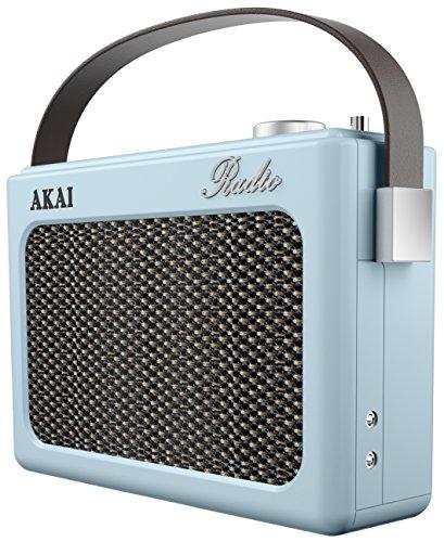 Radio retro AM y FM, Akai A60015N azul