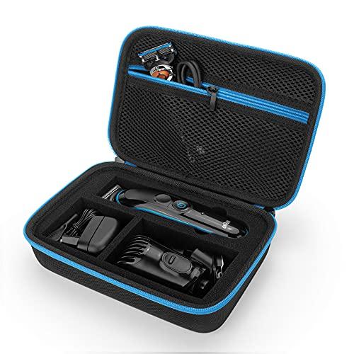 Custodia per Braun Multi Grooming Kit Tutto-In-Uno MGK3221, MGK7220, BT3240, BT7040, MGK5280 & more Tagliacapelli Regolabarba uomo Rifinitore, Borsa Cover Case (Blue)