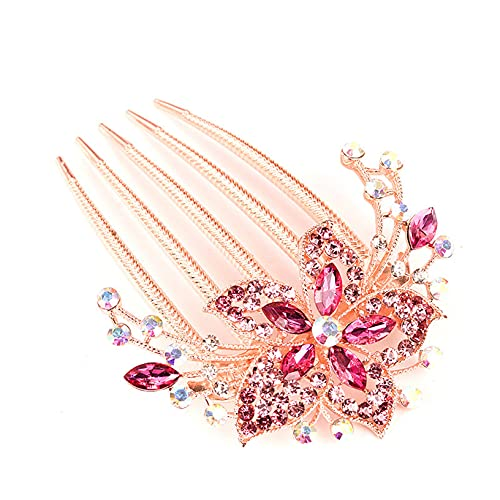 YHFJB Peineta de cristal para novia, dama de honor, estilo vintage, tiara...
