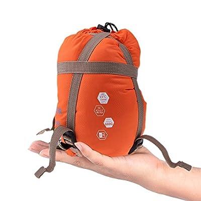 Sunuo Ultra-Light Envelope Travel Sleeping Bags,Outdoor Climbing Camping Portable Thin Waterproof Sleeping Bags (Orange)