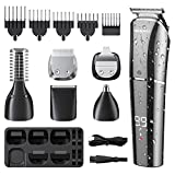 Beard Trimmer, 6 in 1 <span class='highlight'><span class='highlight'>Men</span></span> Hair Clipper <span class='highlight'>homeasy</span> <span class='highlight'><span class='highlight'>Electric</span></span> Hair Trimmer Razor Rechargeable Professional <span class='highlight'><span class='highlight'>Men</span></span>s Grooming Kit Hair Cutting Machine with LED Display Hair <span class='highlight'>Shaver</span> <span class='highlight'>for</span> <span class='highlight'><span class='highlight'>Men</span></span> Kids Barbers