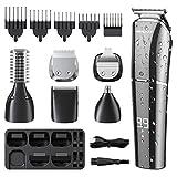 homeasy Haarschneidemaschine Profi 6 in 1 Bart- und Haartrimmer USB Wiederaufladbare Haarschneider...