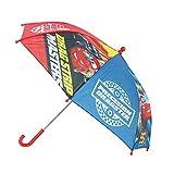Paraguas infantil con diseño de Rayo McQueen, diámetro de 72 cm, color rojo y azul