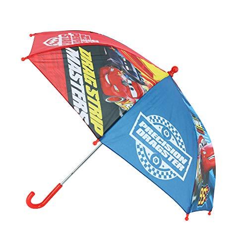 Disney Cars Kinder Regenschirm Stockschirm mit Lightning McQueen, ∅ 72 cm, rot-blau