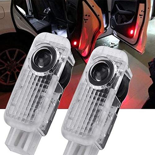 HosDevice Autotür Logo Licht, 2pcs LED Auto Projektor Logo Ghost Shadow licht türbeleuchtung Willkommen Lampe für Audi A8 A7 A6 A5 A4 A3 A1 R8 TT Q7 Q5 Q3