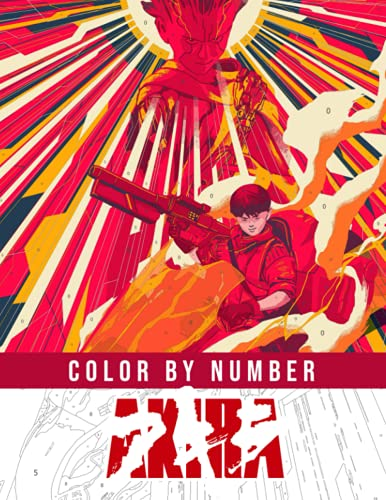 Akira Color By Number: Motorcycle Anime Cyberpunk Character Color Number Book For...