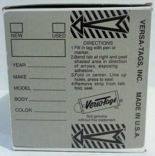 Gray Genuine Versa-Tags Key Tags, Self-Protecting (250 Tags per Box with Metal Rings)