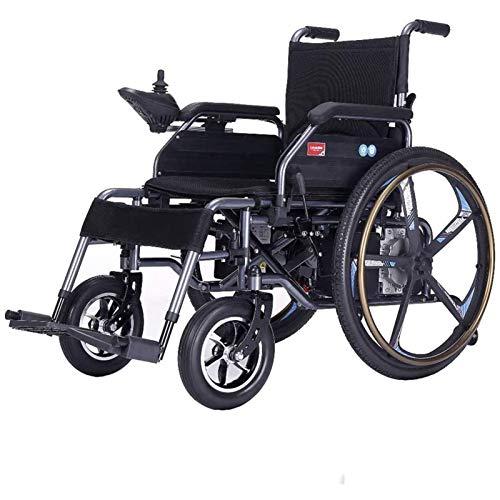 Wheelchair Silla De Ruedas Eléctrica Plegable De Función Dual Liviana (batería De Iones De Litio De 12 A), Conducción con Energía Eléctrica O Uso como Silla De Ruedas Manual