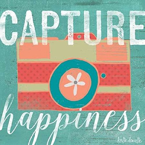 Posterazzi Capture Happiness Poster Print by Katie Doucette, (12 x 12) -  Sagebrush Fine Art, PDXKA1146SMALL