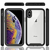 Techstudio Full Body Back Case for iPhone Xs X 5.8 Inch Drop Tested with Inbuilt Screen Protector (Black)